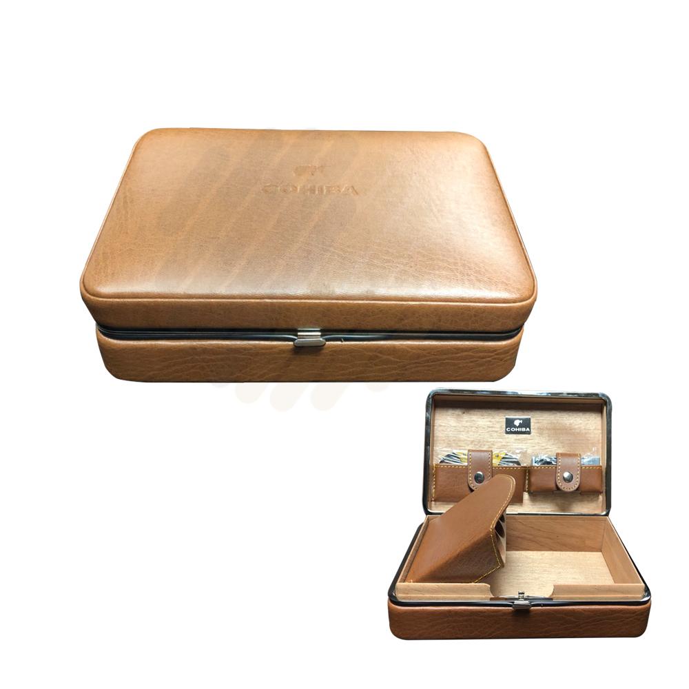 Hộp cigar XJ-T111-ABC - 4 điếu - màu nâu