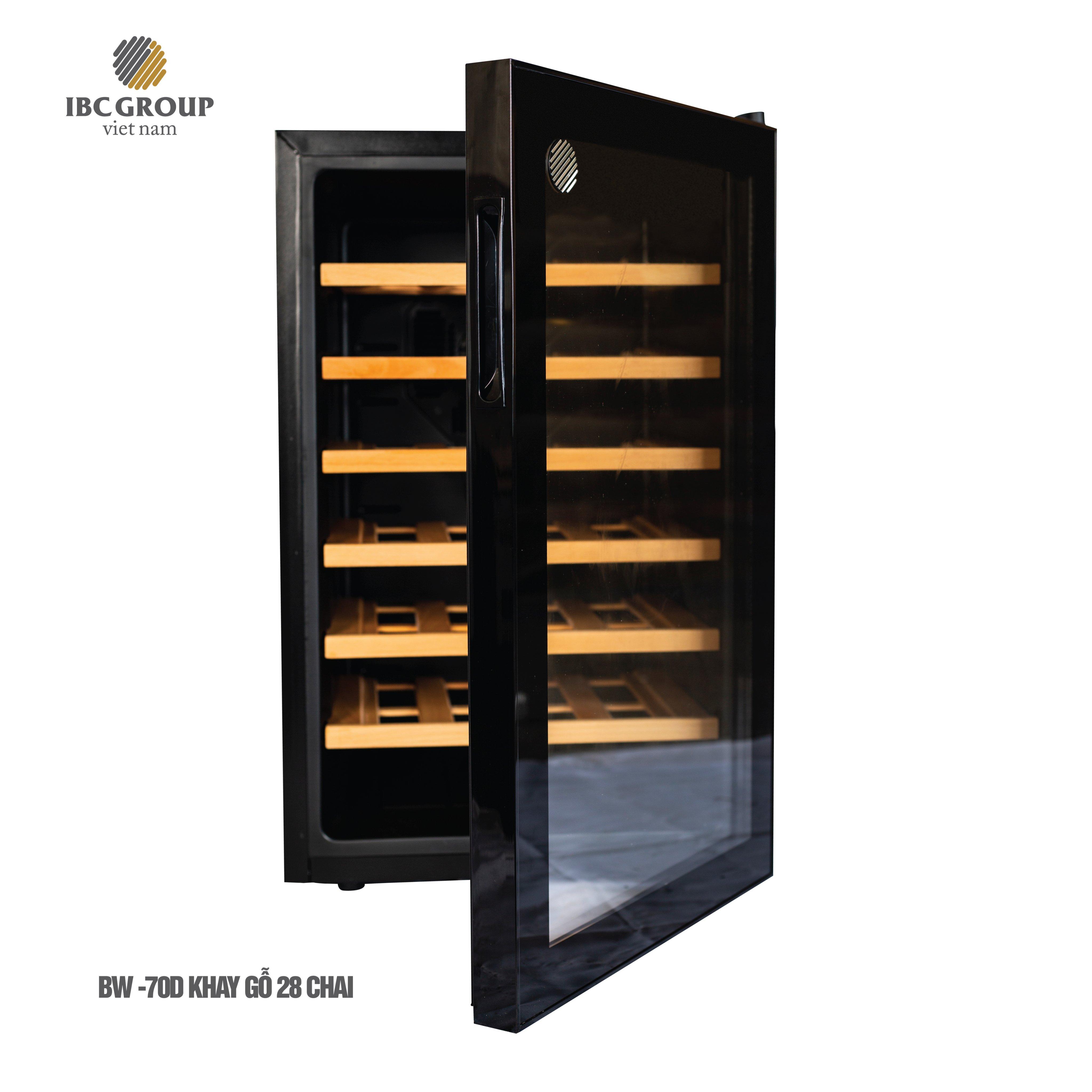 Tủ rượu IBC BW-70D khay gỗ - 28 chai